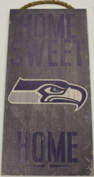 "SEATTLE SEAHAWKS - OFFICIAL NFL HOME SWEET HOME 6 X 12"" WOODEN SIGN"
