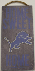 "DETROIT LIONS - OFFICIAL NFL HOME SWEET HOME 6 X 12"" WOODEN SIGN"