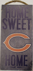 "CHICAGO BEARS - OFFICIAL NFL HOME SWEET HOME 6 X 12"" WOODEN SIGN"