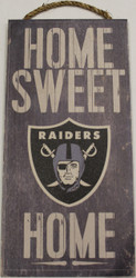 """OAKLAND RAIDERS - OFFICIAL NFL HOME SWEET HOME 6 X 12"""" WOODEN SIGN"""