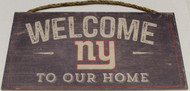 "NEW YORK GIANTS - OFFICIAL NFL WELCOME TO OUR HOME 6 X 12"" WOODEN SIGN"