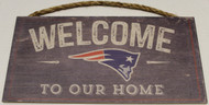 "NEW ENGLAND PATRIOTS - OFFICIAL NFL WELCOME TO OUR HOME 6 X 12"" WOODEN SIGN"
