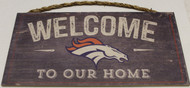 "DENVER BRONCOS - OFFICIAL NFL WELCOME TO OUR HOME 6 X 12"" WOODEN SIGN"