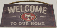 "SAN FRANCISCO 49ERS - OFFICIAL NFL WELCOME TO OUR HOME 6 X 12"" WOODEN SIGN"