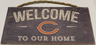 "CHICAGO BEARS - OFFICIAL NFL WELCOME TO OUR HOME 6 X 12"" WOODEN SIGN"