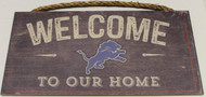 "DETROIT LIONS - OFFICIAL NFL WELCOME TO OUR HOME 6 X 12"" WOODEN SIGN"