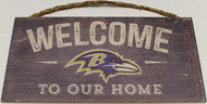 "BALTIMORE RAVENS - OFFICIAL NFL WELCOME TO OUR HOME 6 X 12"" WOODEN SIGN"