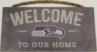"SEATTLE SEAHAWKS - OFFICIAL NFL WELCOME TO OUR HOME 6 X 12"" WOODEN SIGN"