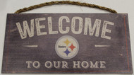 "PITTSBURGH STEELERS - OFFICIAL NFL WELCOME TO OUR HOME 6 X 12"" WOODEN SIGN"