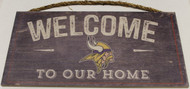 "MINNESOTA VIKINGS - OFFICIAL NFL WELCOME TO OUR HOME 6 X 12"" WOODEN SIGN"