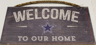 "DALLAS COWBOYS - OFFICIAL NFL WELCOME TO OUR HOME 6 X 12"" WOODEN SIGN"