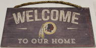 "WASHINGTON REDSKINS - OFFICIAL NFL WELCOME TO OUR HOME 6 X 12"" WOODEN SIGN"