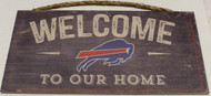 "BUFFALO BILLS - OFFICIAL NFL WELCOME TO OUR HOME 6 X 12"" WOODEN SIGN"