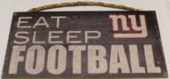 "NEW YORK GIANTS - OFFICIAL NFL EAT SLEEP FOOTBALL 6 X 12"" WOODEN SIGN"