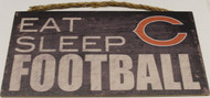 "CHICAGO BEARS - OFFICIAL NFL EAT SLEEP FOOTBALL 6 X 12"" WOODEN SIGN"