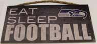 "SEATTLE SEAHAWKS - OFFICIAL NFL EAT SLEEP FOOTBALL 6 X 12"" WOODEN SIGN"