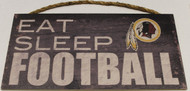 "WASHINGTON REDSKINS - OFFICIAL NFL EAT SLEEP FOOTBALL 6 X 12"" WOODEN SIGN"