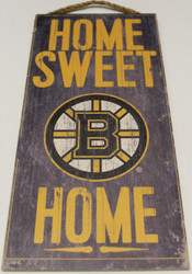 "BOSTON BRUINS OFFICIAL NHL HOME SWEET HOME 6 X 12"" WOODEN SIGN"