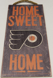 "PHILADELPHIA FLYERS OFFICIAL NHL HOME SWEET HOME 6 X 12"" WOODEN SIGN"