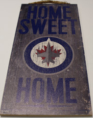 "WINNIPEG JETS OFFICIAL NHL HOME SWEET HOME 6 X 12"" WOODEN SIGN"
