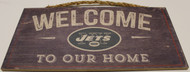 "NEW YORK JETS - OFFICIAL NFL WELCOME TO OUR HOME 6 X 12"" WOODEN SIGN"