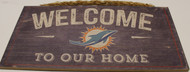 "MIAMI DOLPHINS - OFFICIAL WELCOME TO OUR HOME 6 X 12"" WOODEN SIGN"