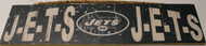 "NEW YORK JETS - OFFICIAL J-E-T-S J-E-T-S 4 X 16"" WOODEN SIGN"