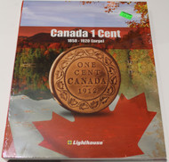 VISTA COIN BOOK CANADA 1 CENTS (PENNIES) - VOL 1 - 1858-1920 (LARGE)