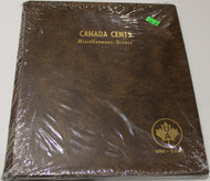 UNI-SAFE EMBOSSED BROWN COIN ALBUM - VOL 153 - CANADA CENTS (PENNIES) MISCELLANEOUS-DIVERS