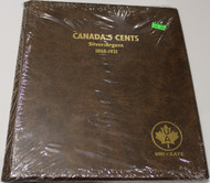 UNI-SAFE EMBOSSED BROWN COIN ALBUM - VOL 154 - CANADA 5 CENTS (NICKELS) SILVER/ARGENT 1858-1921