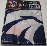 DENVER BRONCOS - POLYESTER FLAG - 3 X 5 FEET - INDOOR/OUTDOOR - BRAND NEW