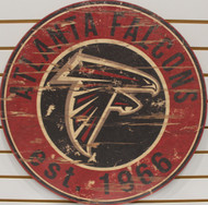 "ATLANTA FALCONS NFL FOOTBALL 23.5"" CIRCULAR WOODEN SIGN"