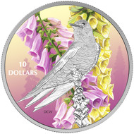2017 $10 FINE SILVER COIN BIRDS AMONG NATURE'S COLOURS: PURPLE MARTIN