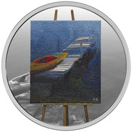 2017 $20 FINE SILVER COIN – EN PLEIN AIR: A PADDLE AWAITS