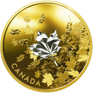 2017 $50 FINE SILVER COIN WHISPERING MAPLE LEAVES