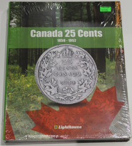 VISTA COIN BOOK CANADA 25 CENTS (QUARTERS)  - VOL 1 - 1858-1952
