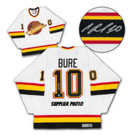 Pavel Bure Vancouver Canucks Autographed White Retro CCM Hockey Jersey