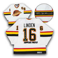 Trevor Linden Vancouver Canucks Autographed White Retro CCM Hockey Jersey