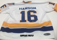 Dave Hanson Charleston Chiefs Autographed Hanson Bros Slap Shot Hockey Jersey