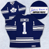 Johnny Bower Toronto Maple Leafs Autographed Heritage Retro Reebok Hockey Jersey