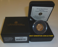 1914 $5 HAND SELECTED GOLD COIN - CANADA'S FIRST GOLD COINS