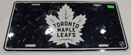 TORONTO MAPLE LEAFS NHL DIAMOND CUT LOOK METAL LICENCE PLATE - NEW LOGO