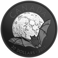 2017 $20 FINE SILVER COIN NOCTURNAL BY NATURE: THE LITTLE BROWN BAT