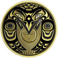 2017 $100 14-KARAT GOLD COIN RAVEN BRINGS THE LIGHT