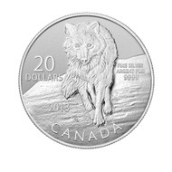 2013 $20 FINE SILVER COIN - WOLF  (8TH IN SERIES)