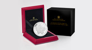 2013 5 OZ FINE SILVER COIN - 25TH ANNIVERSARY OF THE SILVER MAPLE LEAF COIN - MINTAGE: 2500