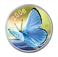 2006 BUTTERFLY COLLECTION - SILVERY BLUE - QUANTITY SOLD: 24,568