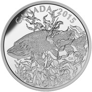 2015 $20 FINE SILVER COIN AMERICAN SPORTFISH: NORTHERN PIKE