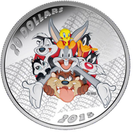 2015 $20 FINE SILVER COIN LOONEY TUNES™ - MERRIE MELODIES