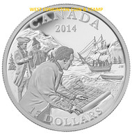 2014 $15 FINE SILVER COIN EXPLORING CANADA: THE WEST COAST EXPLORATION